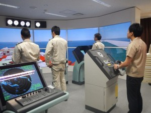 150701 Installment of State of the Art Ship Handling Simulator #1