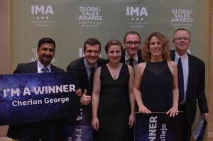 Caption:  The IMA Award Winners 2014-15 (l-r) Cherian George, Nicolas Chaze, Leonie Zimmermann, Ludovic Vergin, Susanna Vallejo, Anders Wennberg